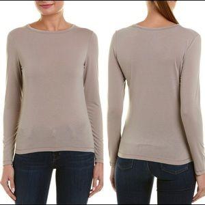 Vince | Basic Long Sleeve Tan T-Shirt | XS